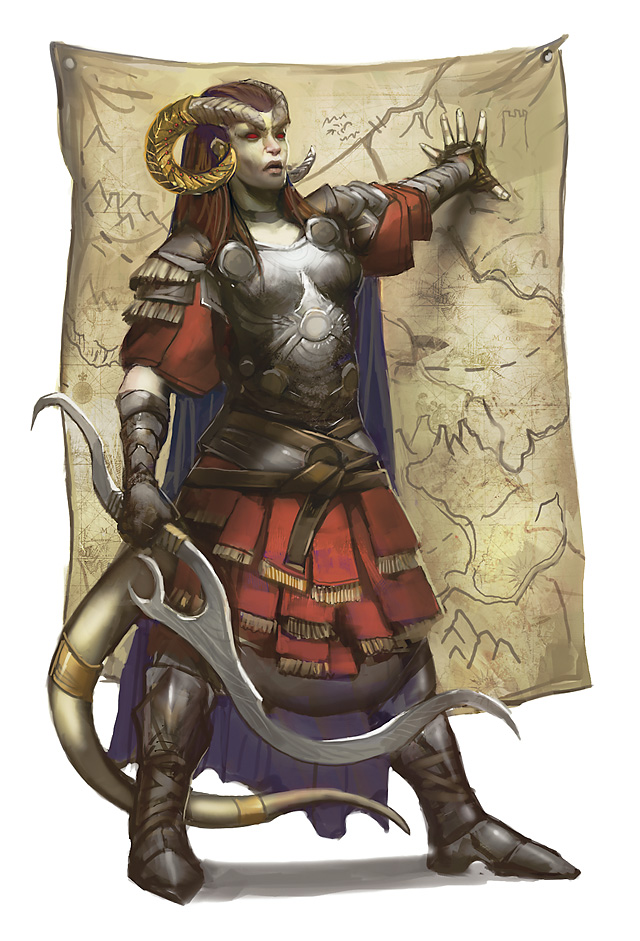 planetouched Avventuriera tiefling - by Julie Dillon Player's Handbook Races, Tieflings (2010-06) © Wizards of the Coast & Hasbro