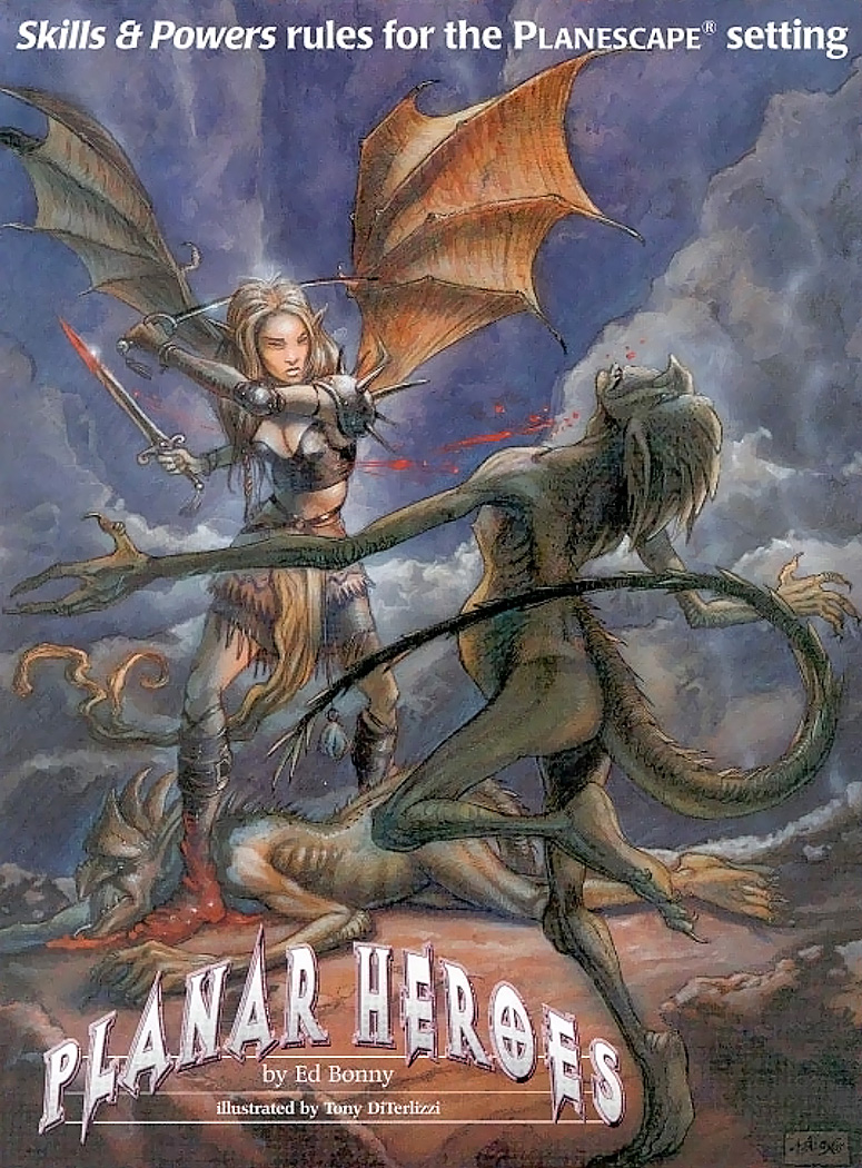 baatezu fiend Un tiefling fa piazza pulita di hamatula - by Tony Diterlizzi Dragon Magazine #235 (1996-11) © Wizards of the Coast & Hasbro