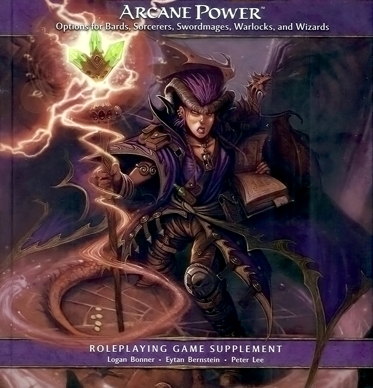 pseudodragon Tiefling e famiglio pseudodrago in copertina - by William O'Connor Arcane Power (2009-04) © Wizards of the Coast & Hasbro