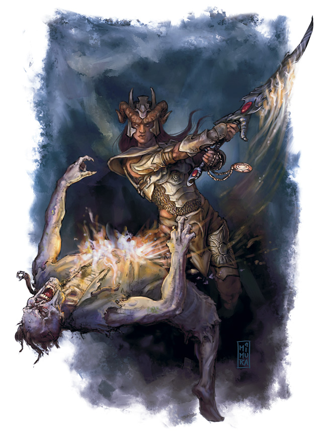 zombie Tiefling e zombi - by Raven Mimura Player's Handbook Races, Tieflings (2010-06) © Wizards of the Coast & Hasbro