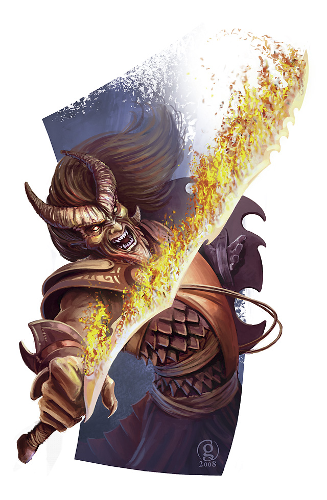 {$tags} Tiefling spell - by Adam Gillespie Player's Handbook Races, Tieflings (2010-06) © Wizards of the Coast & Hasbro