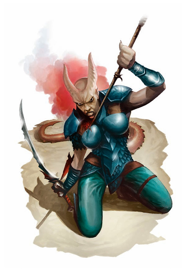 rogue Tiefling - by Brian Hagan Martial Power (2008-11) © Wizards of the Coast & Hasbro