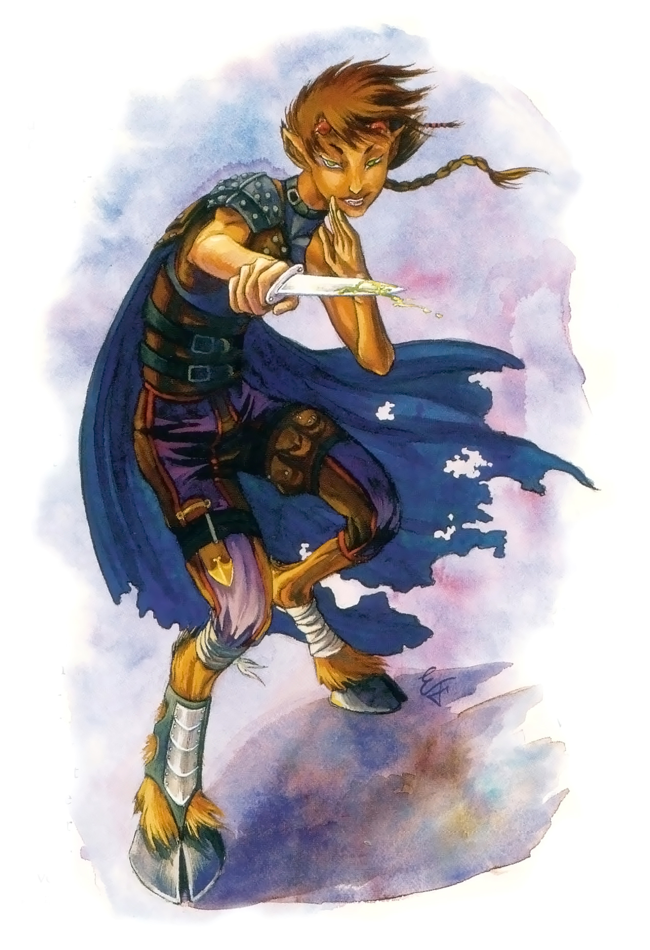 planetouched Tiefling - by Emily Fiegenschuh Planar Handbook, A Player's Guide to the Planes (2004) © Wizards of the Coast & Hasbro