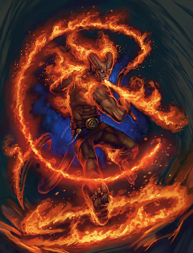 {$tags} Tiefling amante del fuoco - by Eric Belisle Psionic Power (2010-08) © Wizards of the Coast & Hasbro