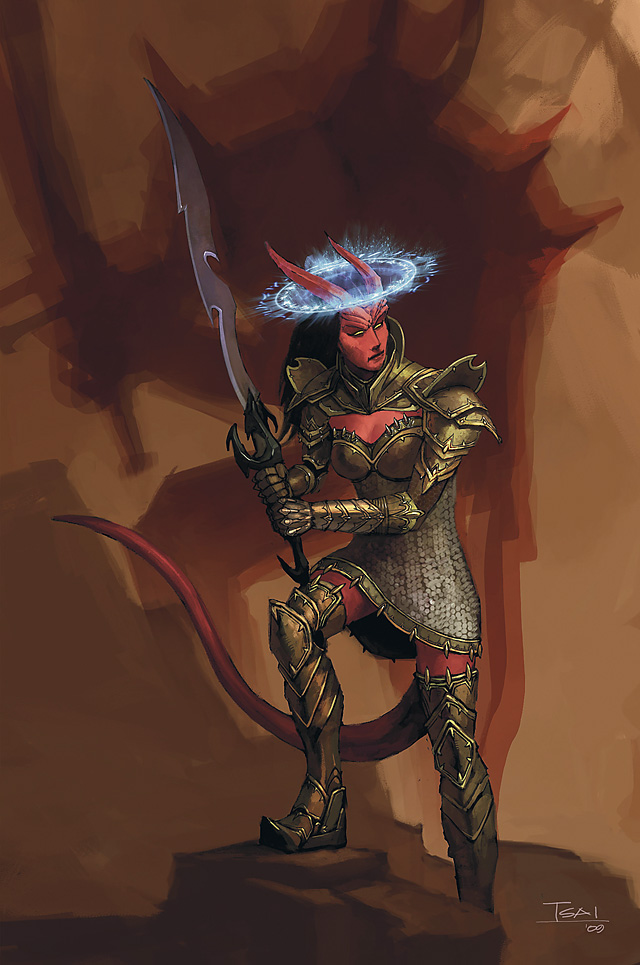 planetouched Tiefling psionico - by Francis Tsai Player's Handbook 3 (2010-03) © Wizards of the Coast & Hasbro