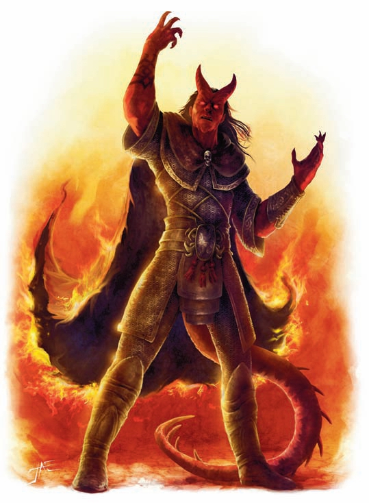 {$tags} Tiefling - by Jason A. Engle Adventurer's Vault (2008-09) © Wizards of the Coast & Hasbro