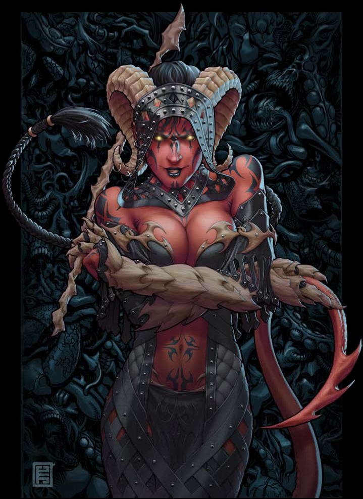 {$tags} Tiefling in nero - by John Tyler Christopher Dragon Magazine #373 (2009-03) © Wizards of the Coast & Hasbro