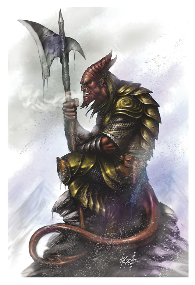 {$tags} Tiefling - by Lucio Parrillo Underdark (2010-01) © Wizards of the Coast & Hasbro