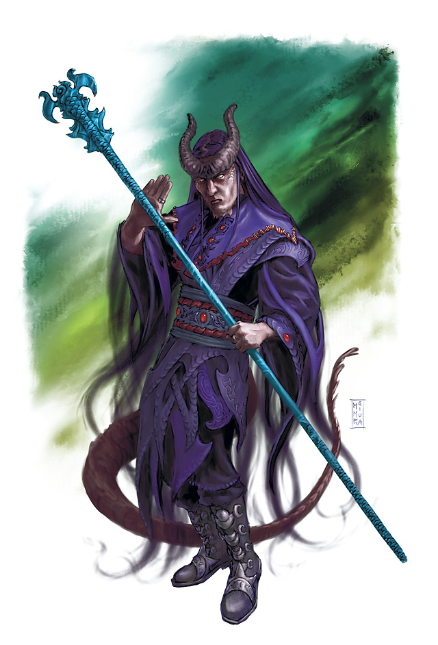 planetouched Tiefling - by Raven Mimura Player's Handbook Races, Tieflings (2010-06) © Wizards of the Coast & Hasbro