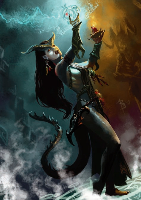 {$tags} Tiefling - by Ryan Barger Adventurer's Vault (2008-09) © Wizards of the Coast & Hasbro