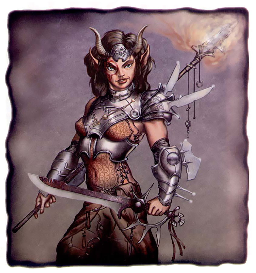 {$tags} Tiefling - by Shawn Sharp Dragon Magazine #272 (2000-06) © Wizards of the Coast & Hasbro