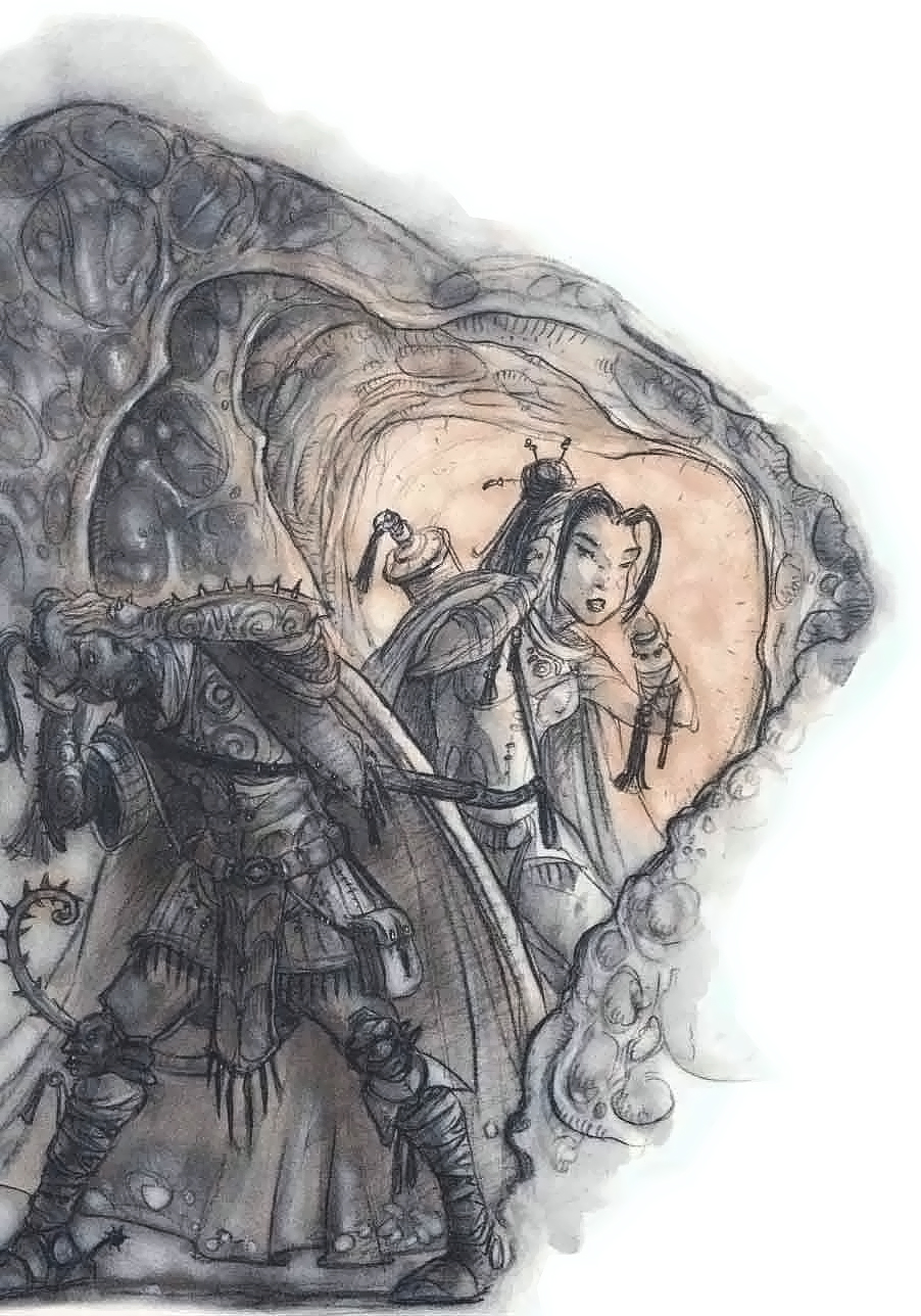 tiefling caverns of thought Tiefling nel reame di Ilsensine - by Tony Diterlizzi TSR - Planescape Campaign Setting (1994-04) © Wizards of the Coast & Hasbro
