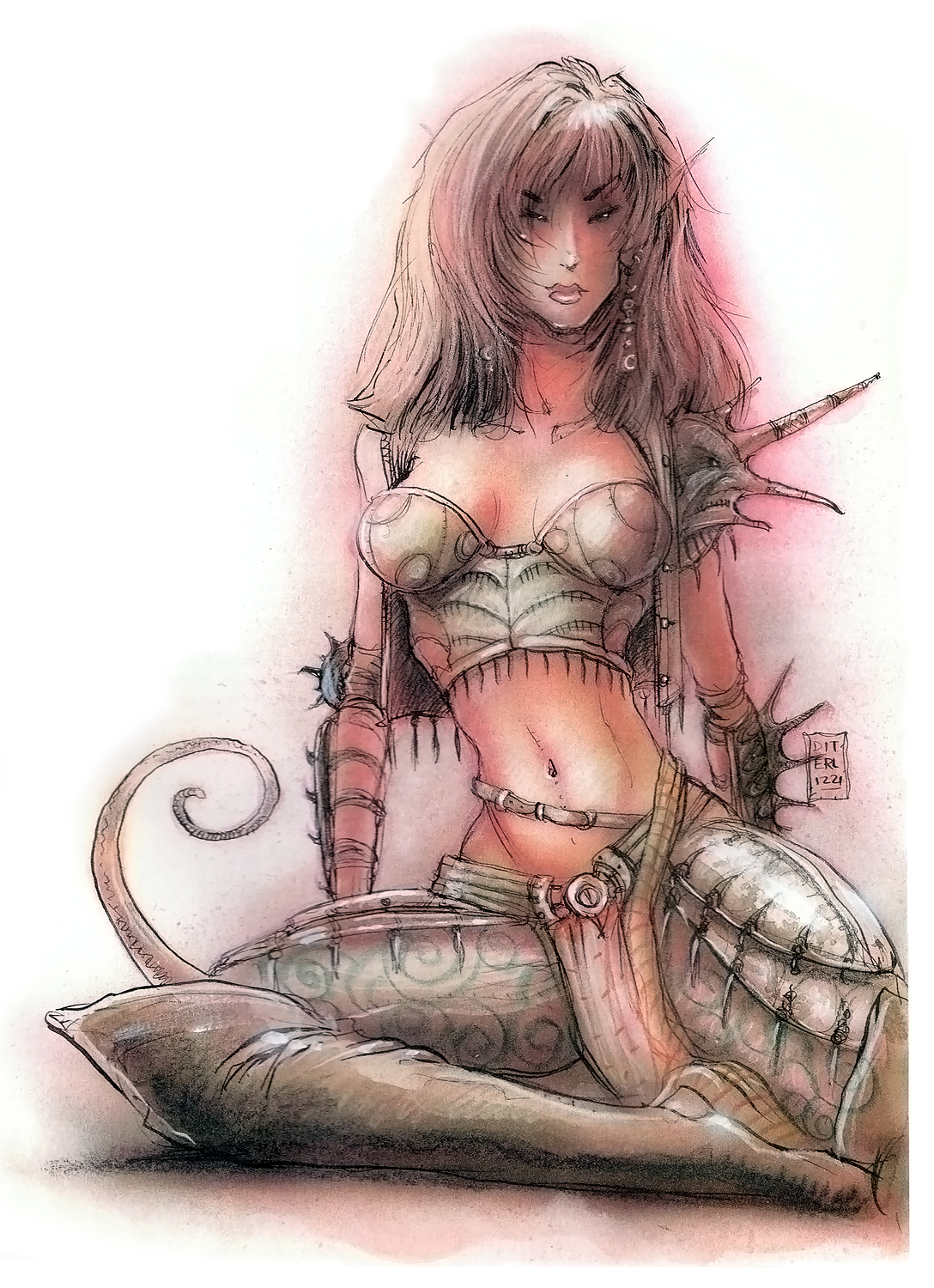 tiefling planescape Tiefling - by Tony Diterlizzi TSR - Planescape Monstrous Compendium Appendix I (1994) © Wizards of the Coast & Hasbro