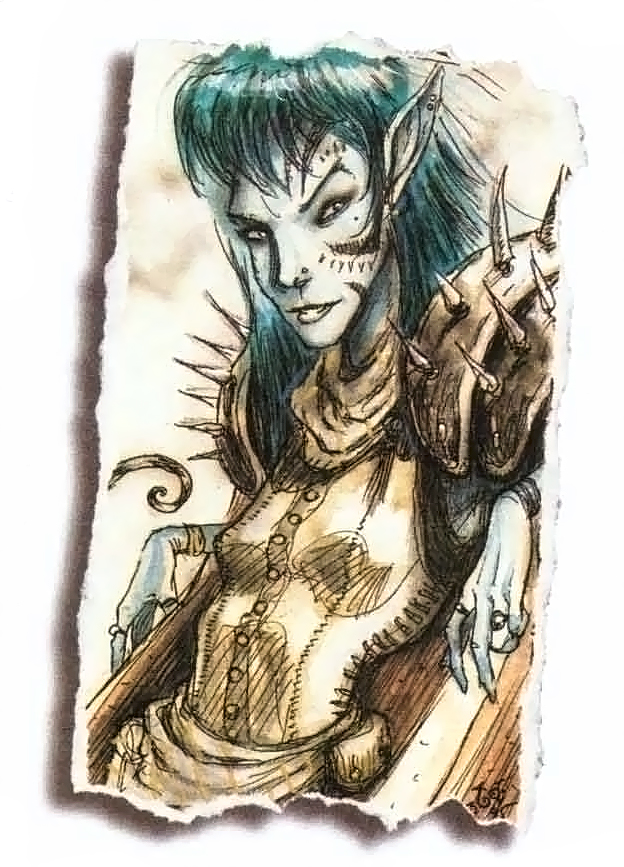 planetouched Tiefling - by Tony Diterlizzi TSR - The Planewalker's Handbook (1996-08) © Wizards of the Coast & Hasbro
