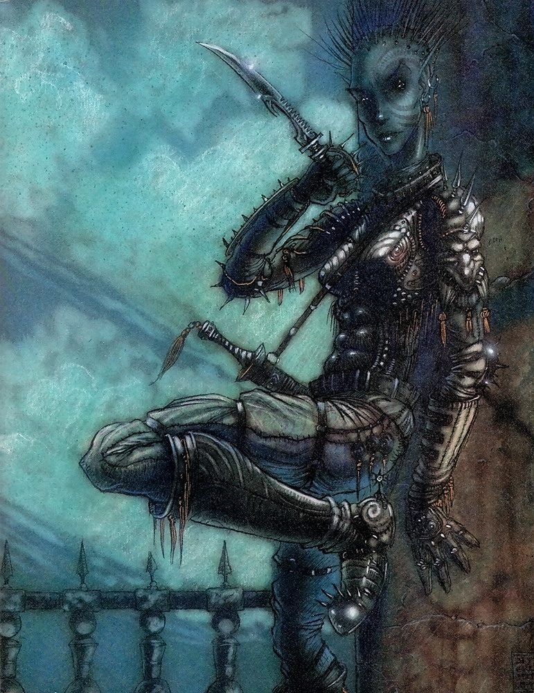{$tags} Tiefling - by Tony Diterlizzi TSR - Hellbound, The Blood War (1996-06) © Wizards of the Coast & Hasbro