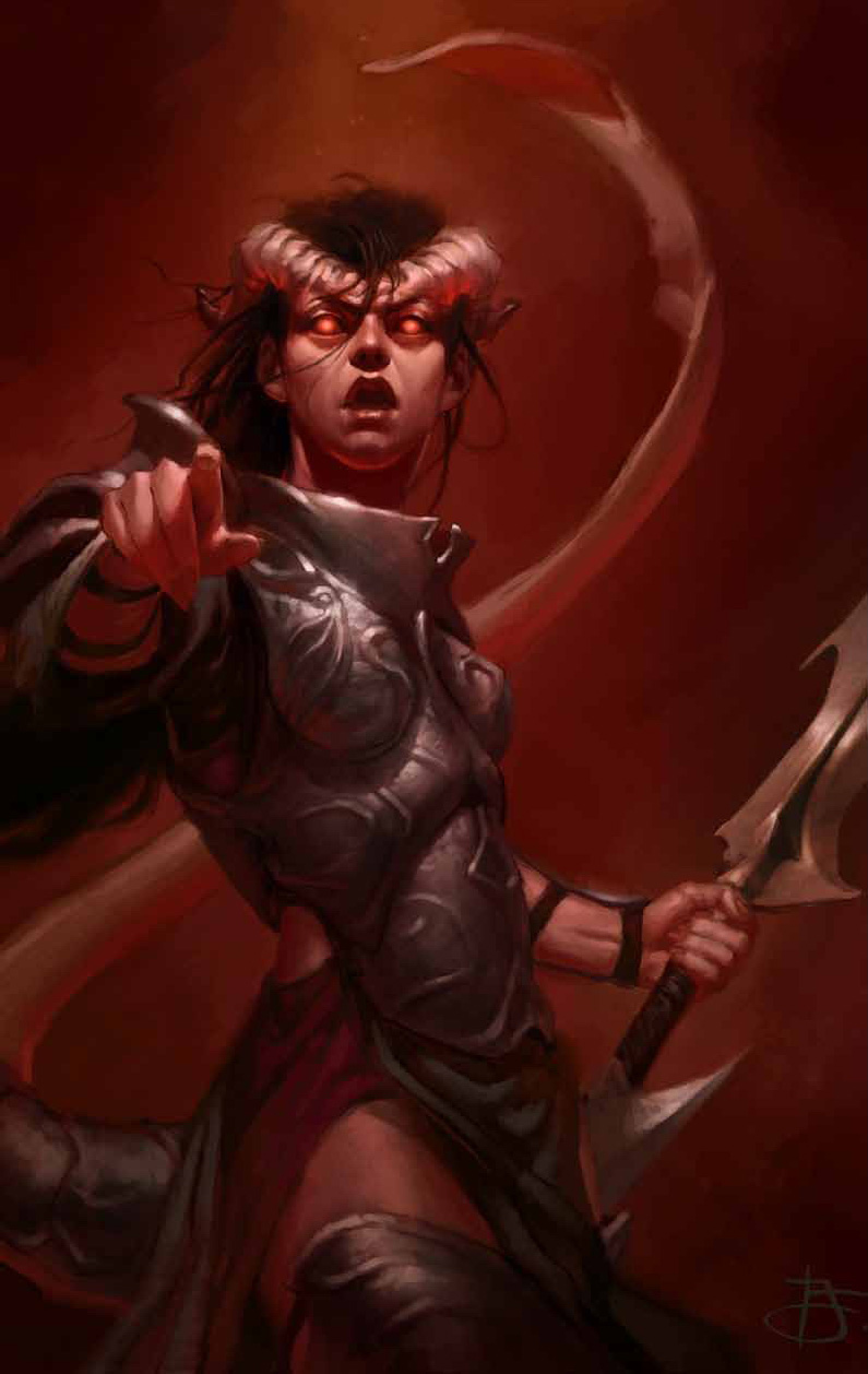 {$tags} Tiefling - by Tyler Jacobson Dragon Magazine #387 (2010-05) © Wizards of the Coast & Hasbro