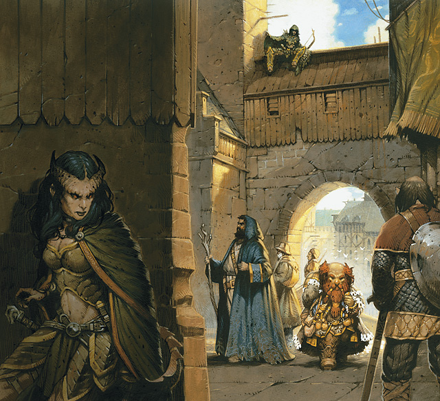 dwarf Tiefling, imboscata al nano - by Vincent Dutrait Dungeon Master's Guide 2 (2009-09) © Wizards of the Coast & Hasbro