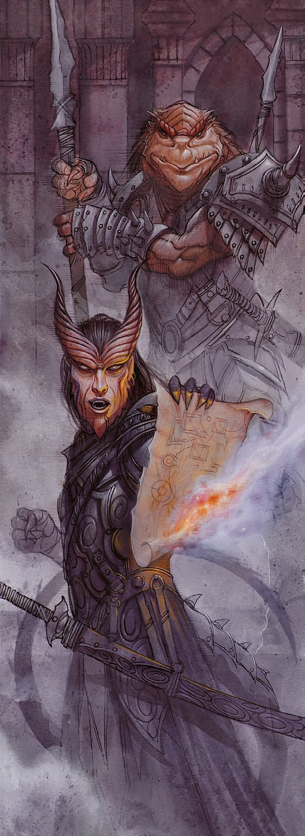 dragonborn Tiefling e dragonide- by Wayne England Martial Power (2008-11) © Wizards of the Coast & Hasbro