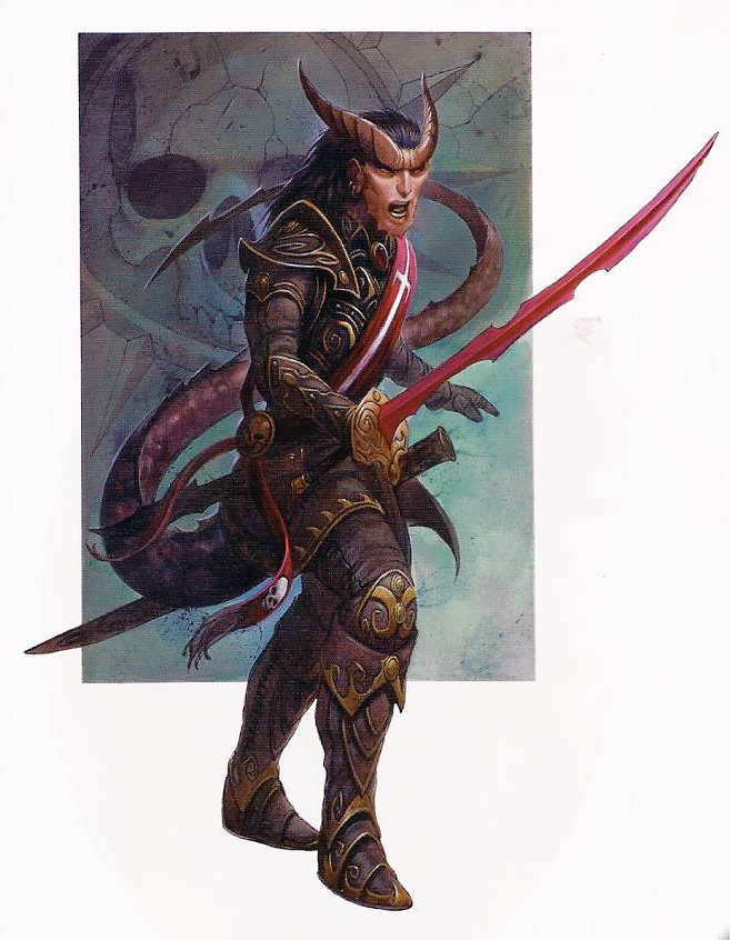 {$tags} Tiefling - by Wayne England The Shadowfell, Gloomwrought and Beyond (2011-05) © Wizards of the Coast & Hasbro