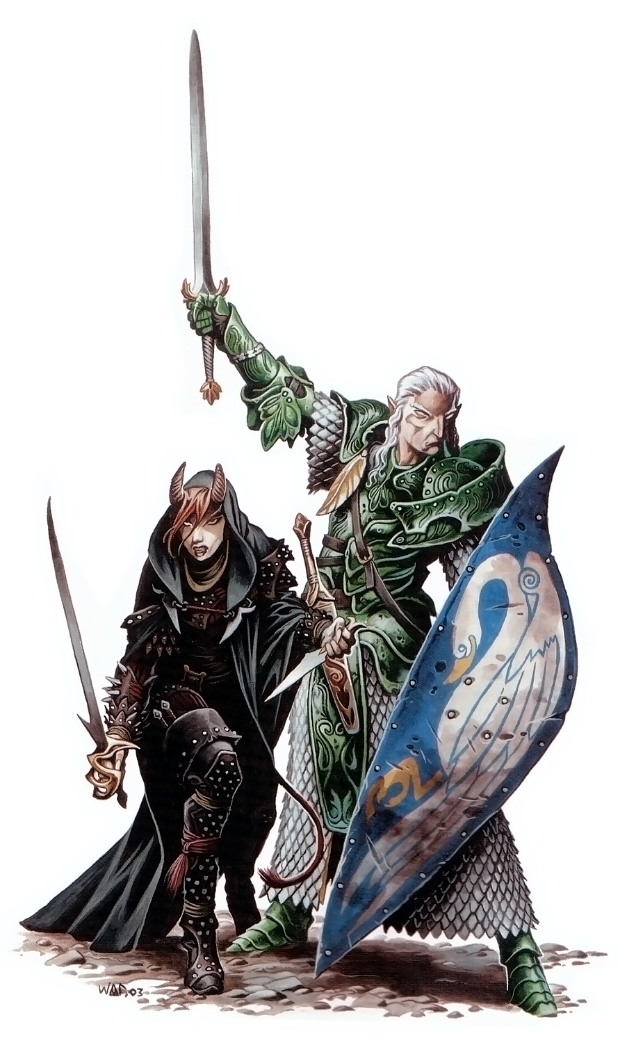 {$tags} Tiefling e aasimar - by Wayne Reynolds Monster Manual 3.5 (2003) © Wizards of the Coast & Hasbro