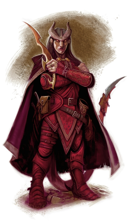 {$tags} Tiefling - by William O'Connor Monster Manual 4th edition (2008-06) © Wizards of the Coast & Hasbro