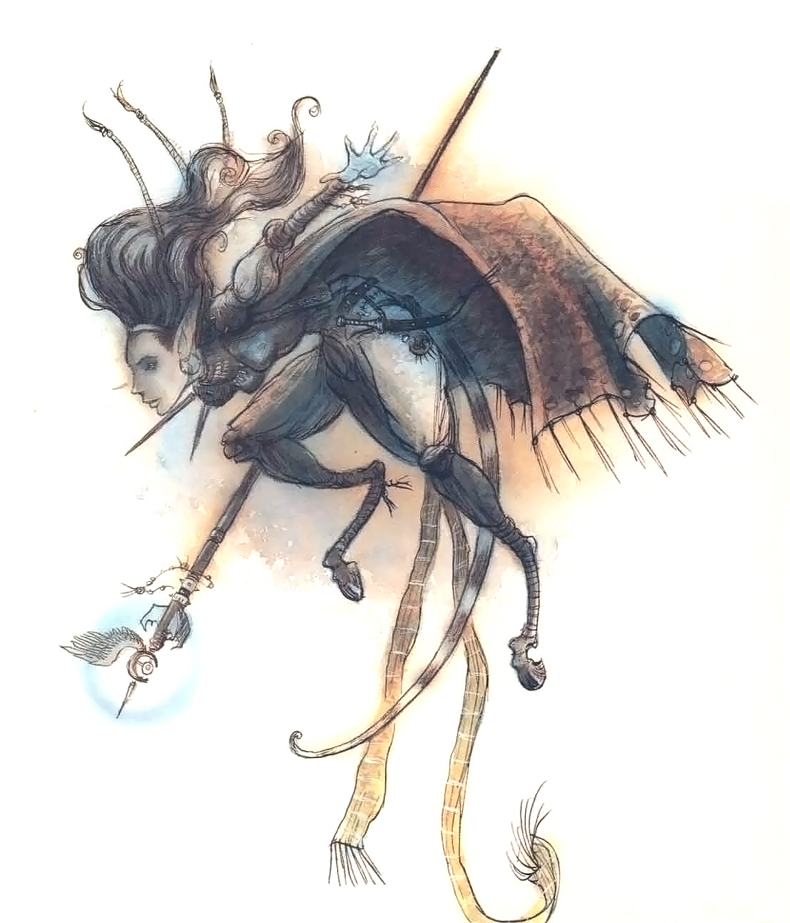 tiefling Rhys, factol dell'Ordine Trascendente - by Tony Diterlizzi TSR – The Factol's Manifesto (1995-06) © Wizards of the Coast & Hasbro