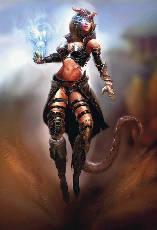 infernal eye Tiefling, occhio infernale - by Goran Josic Player's Handbook Races, Tieflings (2010-06) © Wizards of the Coast & Hasbro