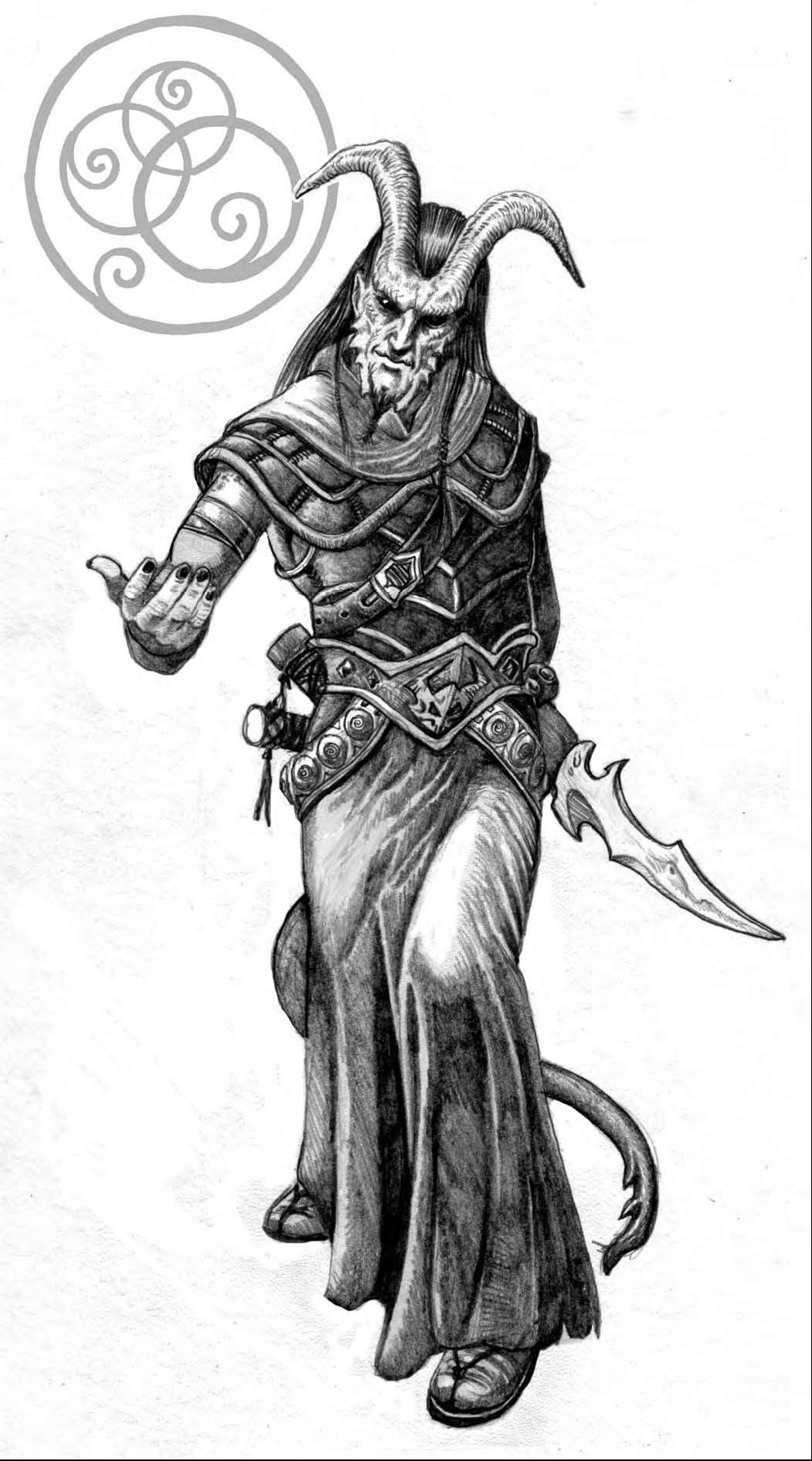 {$tags} Tiefling inviato Hero's Handbook, Tiefling (2009) © Goodman Games, Wizards of the Coast & Hasbro
