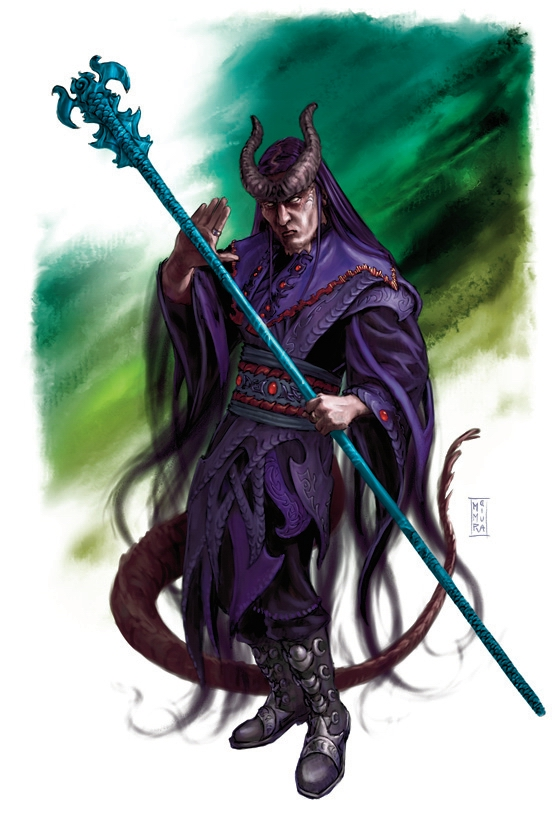 {$tags} Tiefling mago - by Raven Mimura Player's Handbook (2008-06) © Wizards of the Coast & Hasbro