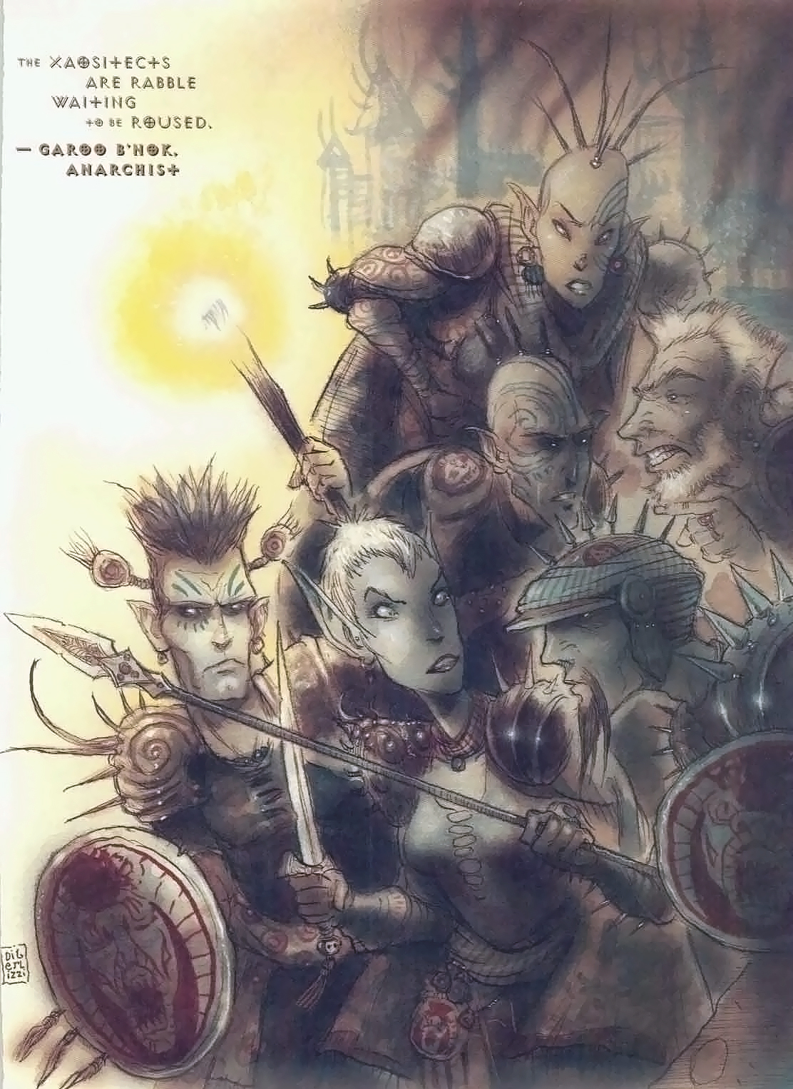 {$tags} Xaositect in agguato (tiefling e drow anche) - by Tony Diterlizzi TSR – The Factol's Manifesto (1995-06) © Wizards of the Coast & Hasbro