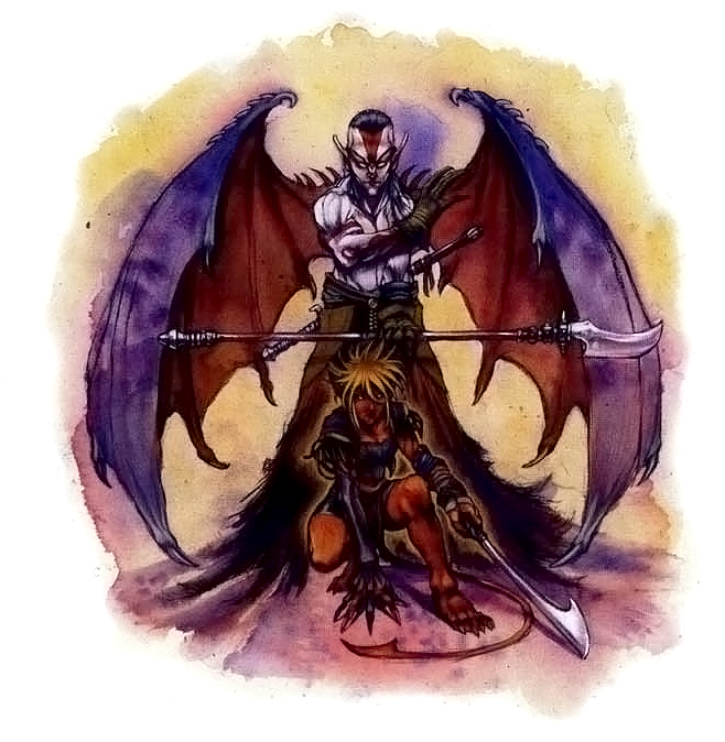 {$tags} Tiefling, tipologie di Fey'ri - by Vinod Rams Races of Faerûn (2003) © Wizards of the Coast & Hasbro