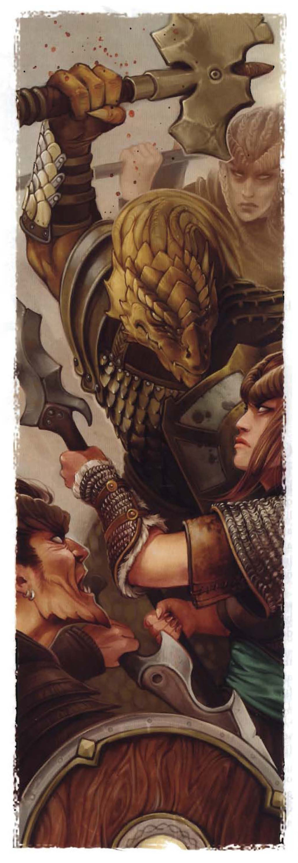 {$tags} Tiefling contro dragonide - by Eva Widermann Player's Handbook Races, Dragonborn (2010-01) © Wizards of the Coast & Hasbro
