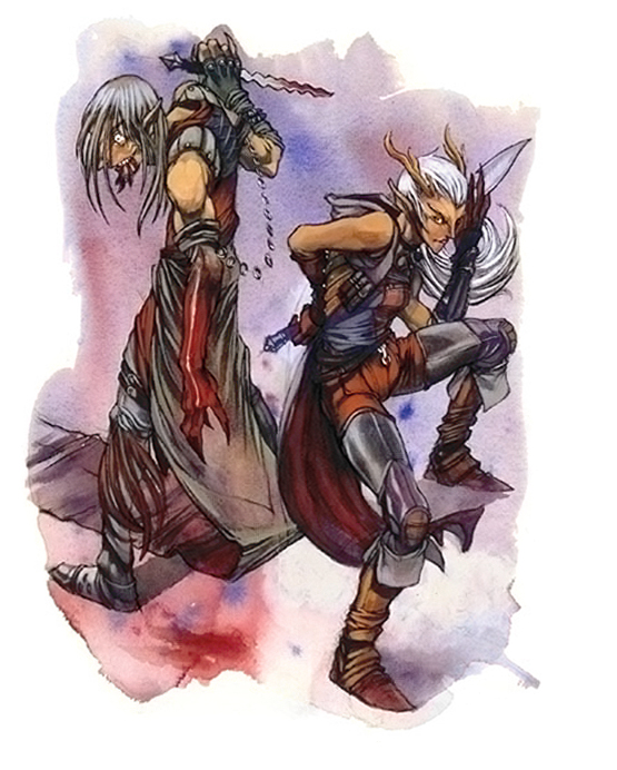 {$tags} I tiefling - by Vinod Rams Races of Faerûn (2003) © Wizards of the Coast & Hasbro