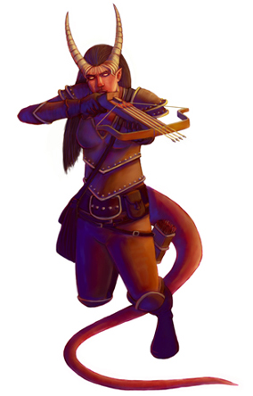 {$tags} Tiefling - by Samuel Flegal www.samflegal.com (2010) © Wizards of the Coast & Hasbro