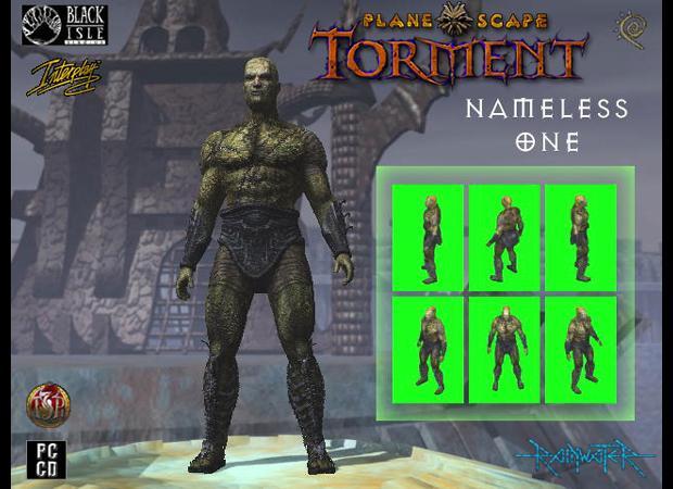 Planescape Torment Concept - Nameless One, idea iniziale, scheda del modello (1999)