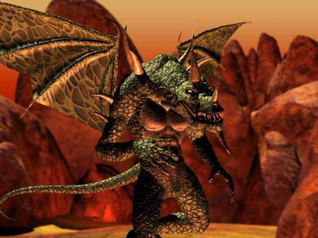 Planescape Torment Rendering definitivo - Green Abishai (1999)