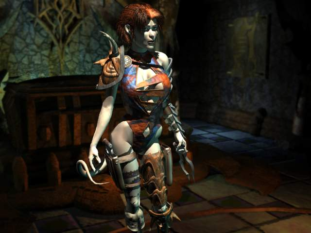 Planescape Torment Rendering definitivo - Annah of The Shadows, tiefling (1999)