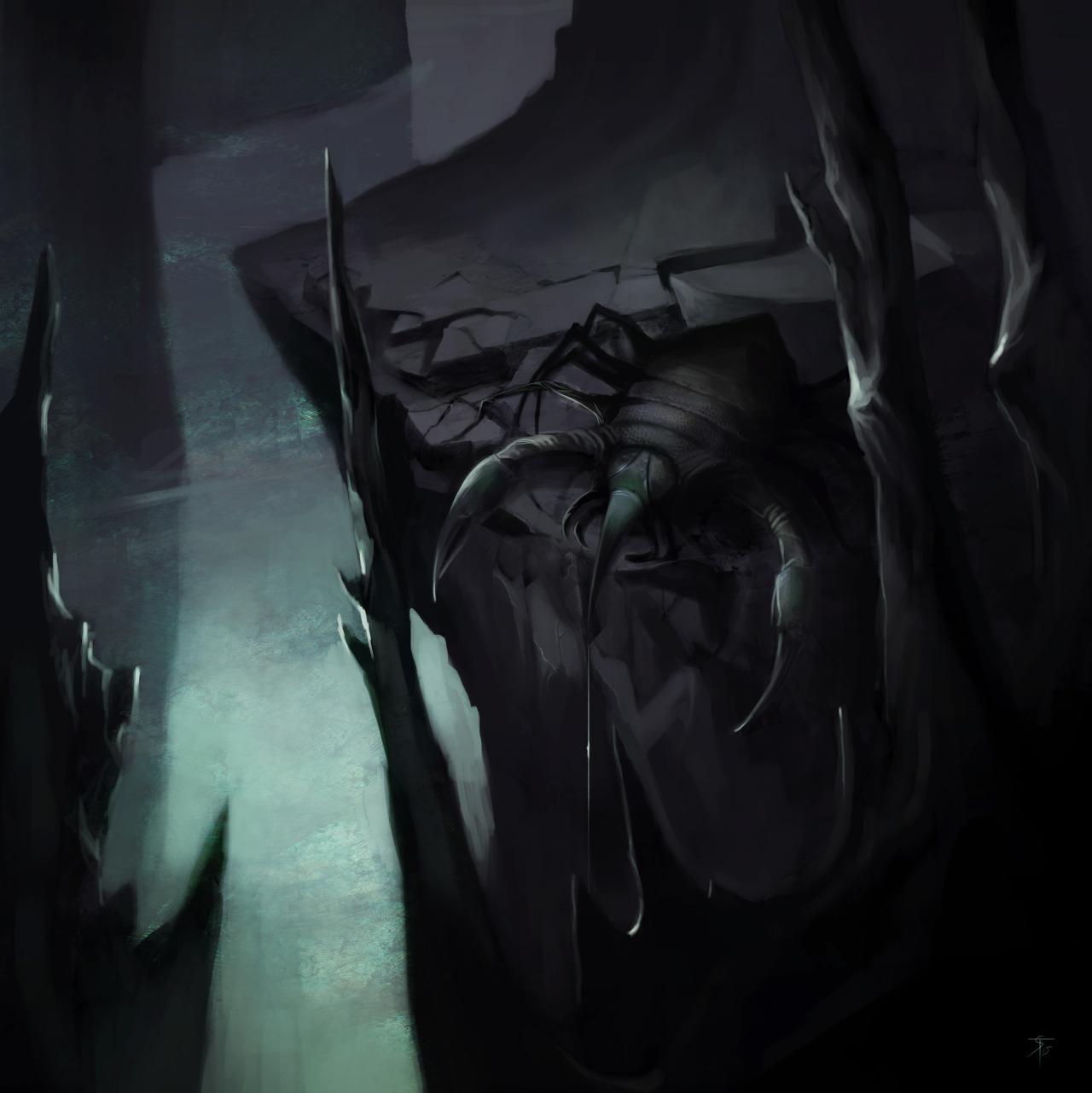 """the-murdellicious #20: """"Cave Fisher"""" - by Tuomas Salmela themurling.tumblr.com (2015) © dell'autore tutti i diritti riservati"""