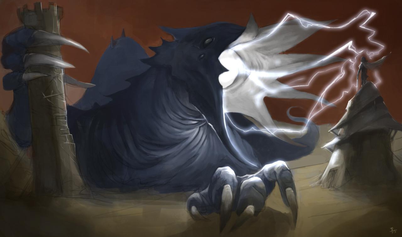 """the-murdellicious #36: """"Dragon, Blue"""" - by Tuomas Salmela themurling.tumblr.com (2015) © dell'autore tutti i diritti riservati"""
