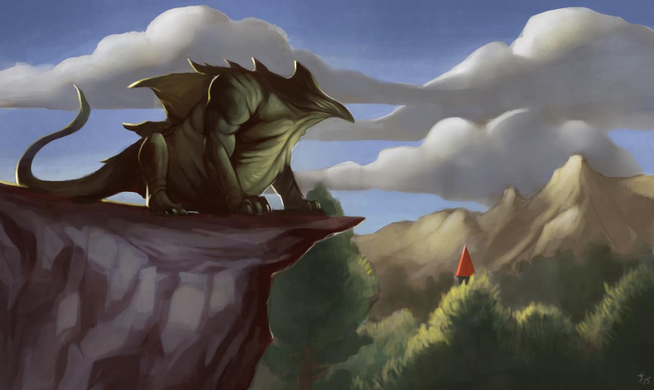 """the-murdellicious #37: """"Dragon, Green"""" - by Tuomas Salmela themurling.tumblr.com (2015) © dell'autore tutti i diritti riservati"""
