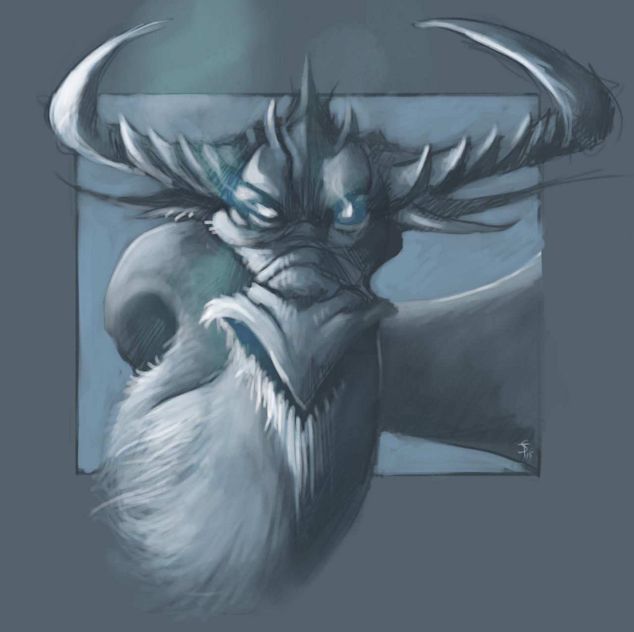 """the-murdellicious #39: """"Dragon, White"""" - by Tuomas Salmela themurling.tumblr.com (2015) © dell'autore tutti i diritti riservati"""
