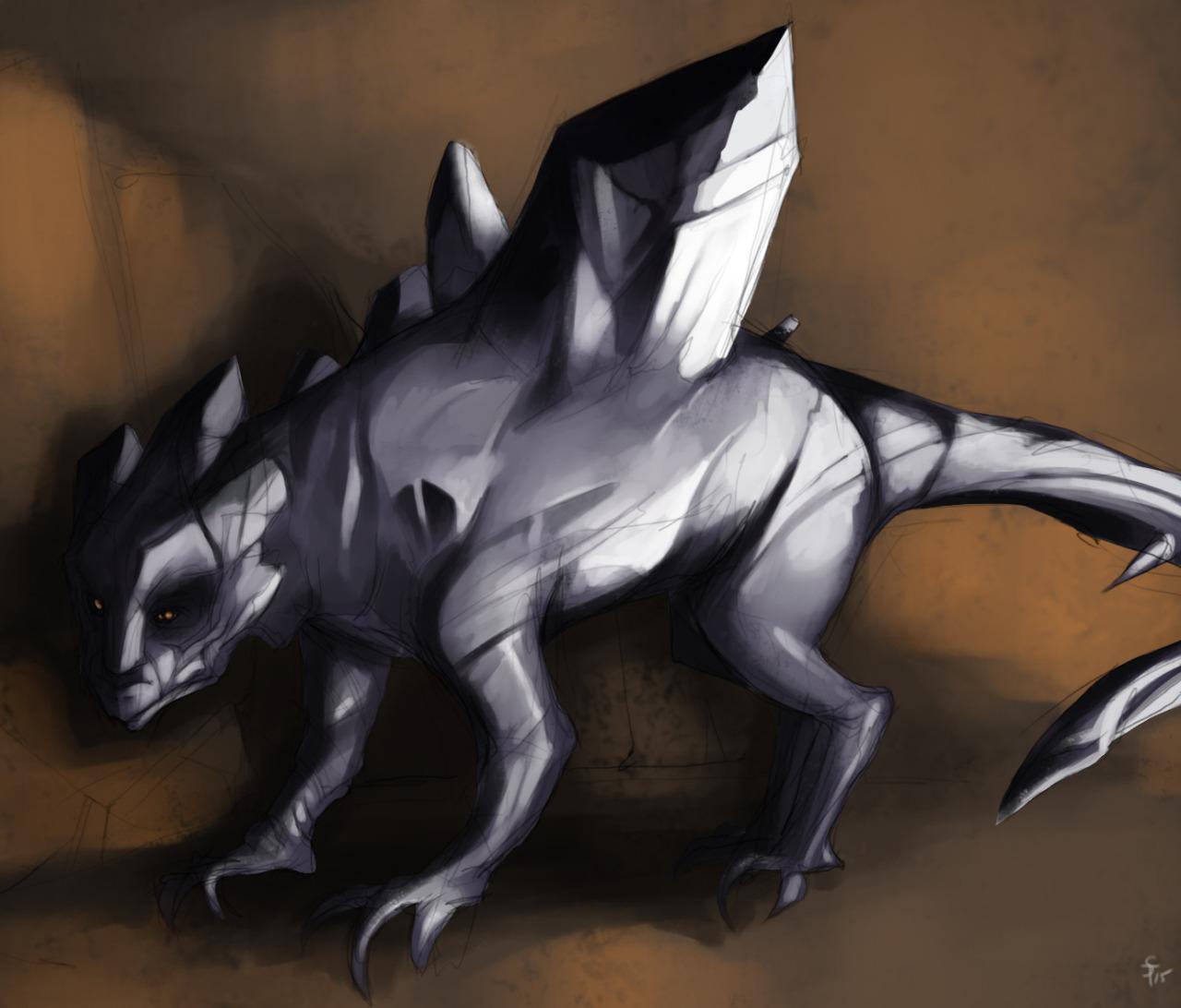 """the-murdellicious #40: """"Dragon, Amethyst"""" - by Tuomas Salmela themurling.tumblr.com (2015) © dell'autore tutti i diritti riservati"""