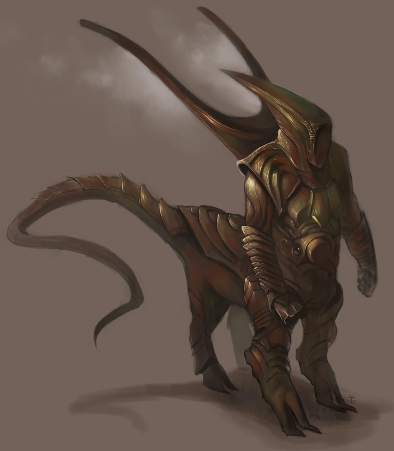 """the-murdellicious #47: """"Dragon, Copper"""" - by Tuomas Salmela themurling.tumblr.com (2015) © dell'autore tutti i diritti riservati"""
