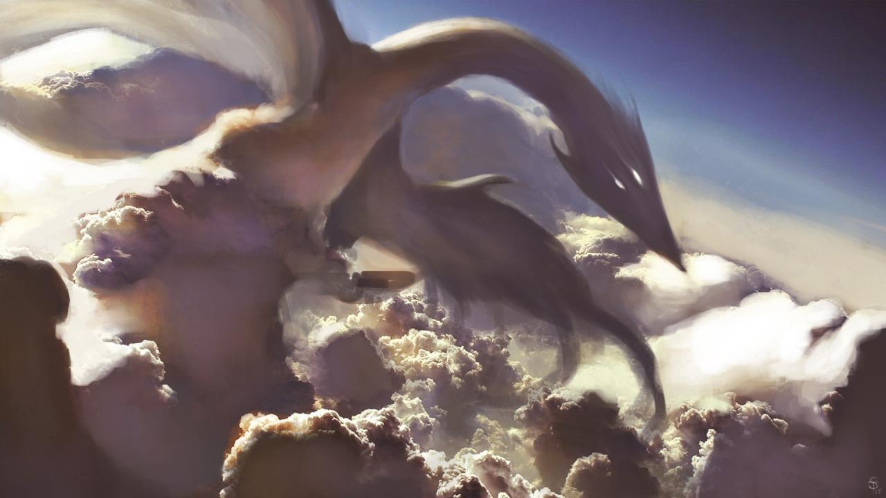 """the-murdellicious #51: """"Dragon, Cloud"""" - by Tuomas Salmela themurling.tumblr.com (2015) © dell'autore tutti i diritti riservati"""