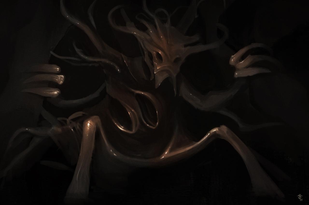 """the-murdellicious #52: """"Dragon, Deep"""" - by Tuomas Salmela themurling.tumblr.com (2015) © dell'autore tutti i diritti riservati"""