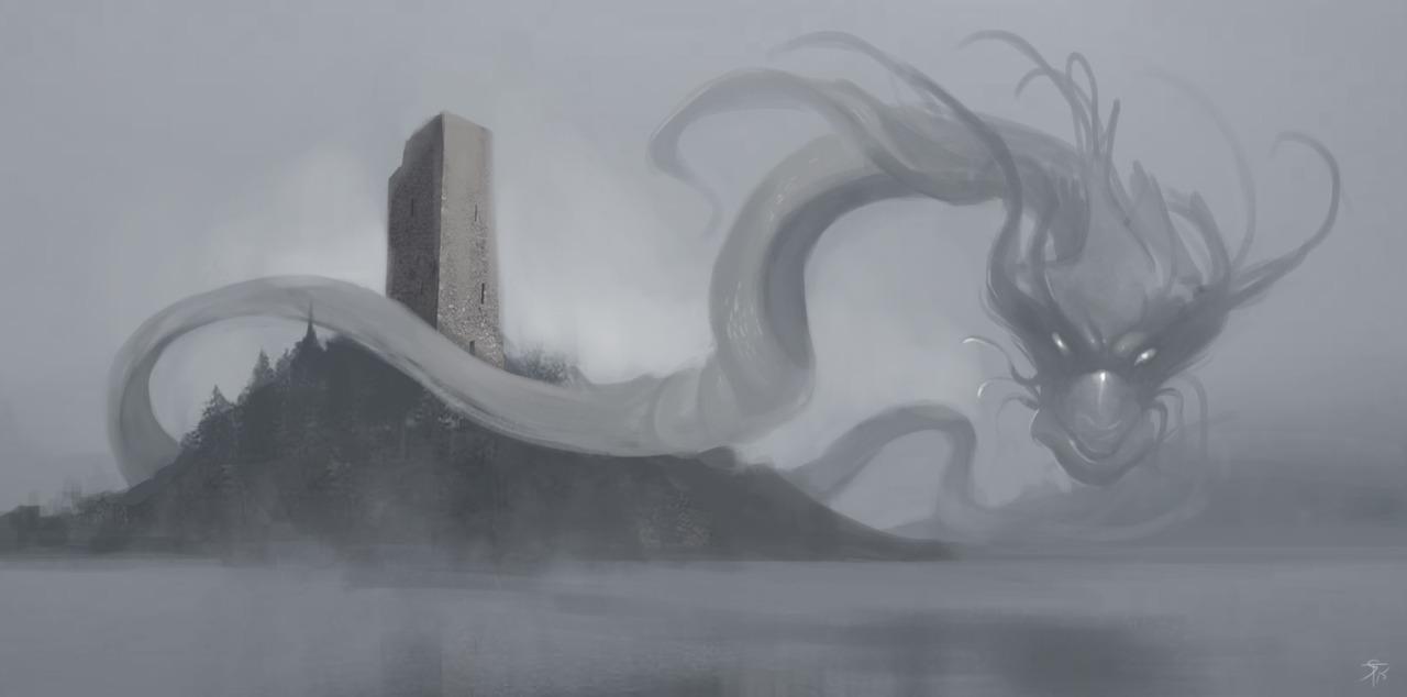 """the-murdellicious #54: """"Dragon, Mist"""" - by Tuomas Salmela themurling.tumblr.com (2015) © dell'autore tutti i diritti riservati"""