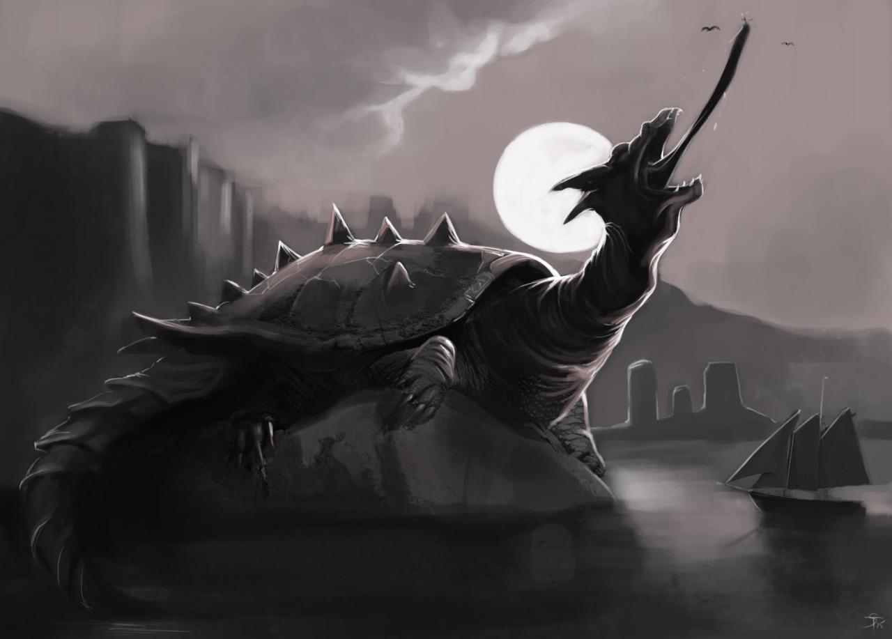 """the-murdellicious #58: """"Dragon Turtle"""" - by Tuomas Salmela themurling.tumblr.com (2015) © dell'autore tutti i diritti riservati"""
