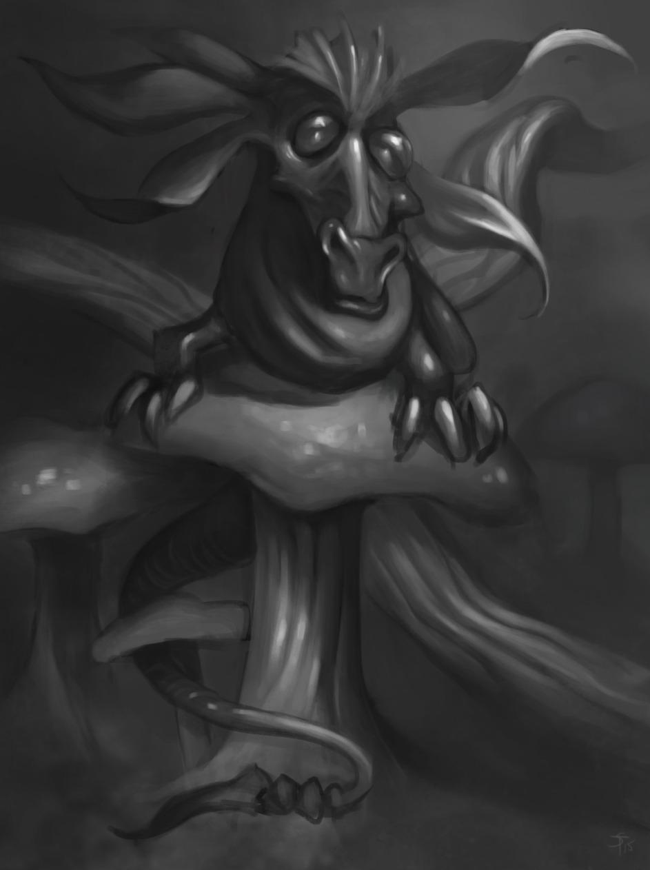 """the-murdellicious #59: """"Dragon, Faerie"""" - by Tuomas Salmela themurling.tumblr.com (2015) © dell'autore tutti i diritti riservati"""