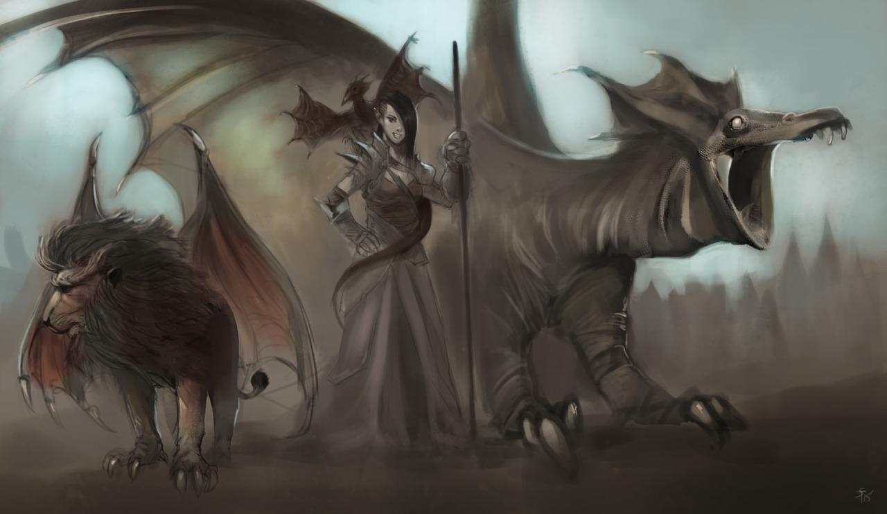 """the-murdellicious #60, 61 e 62: """"Firedrake, Pseudodragon, Dragonne"""" - by Tuomas Salmela themurling.tumblr.com (2015) © dell'autore tutti i diritti riservati"""