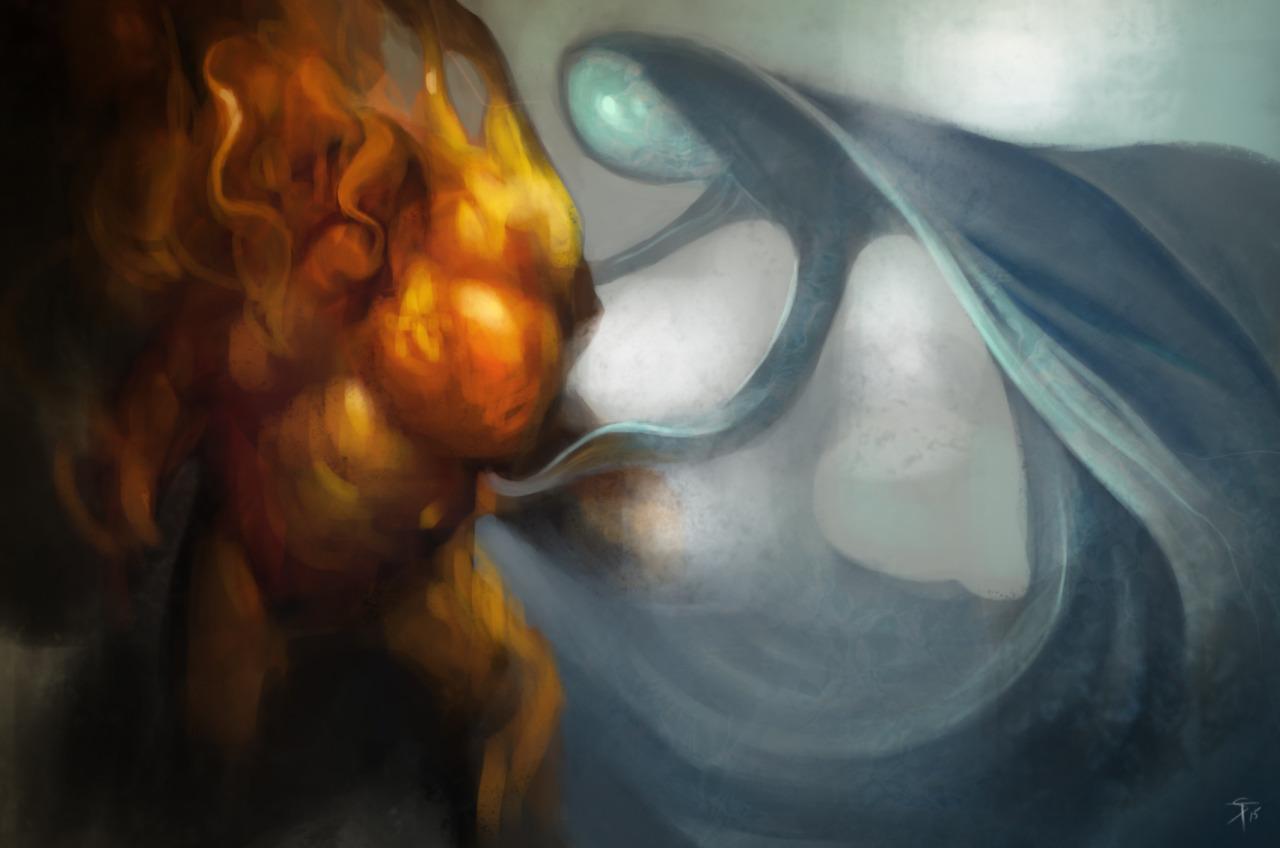 """the-murdellicious #68: """"Elemental - Fire, Water"""" - by Tuomas Salmela themurling.tumblr.com (2015) © dell'autore tutti i diritti riservati"""